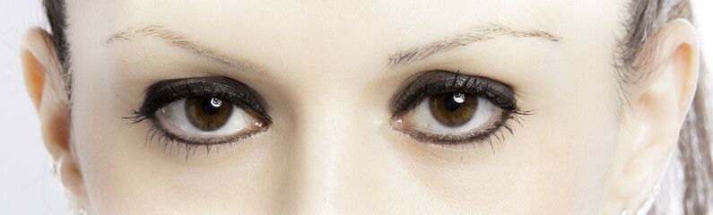 Beautiful intense eyes color image