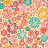 Vector abstract decorative circles seamless pattern background