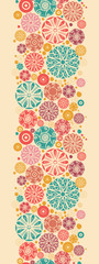 Vector abstract decorative circles vertical seamless pattern