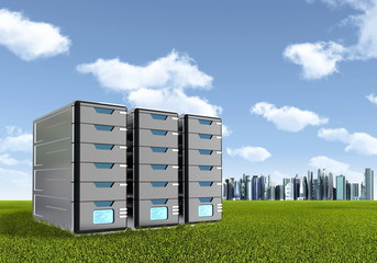 Computer Server Concept
