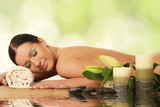 Fototapety young woman in a spa
