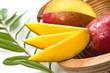 slices of mango, mango