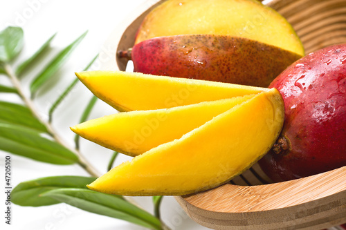 slices of mango, mango