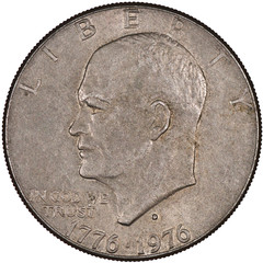 United States of America Silver Eisenhower Dollar Coin