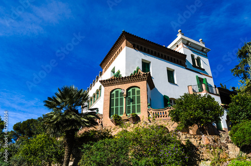 Casa Trias in the Park Guell in Barcelona, Spain