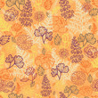Vector desert flowers and leaves elegant seamless pattern