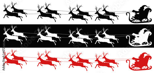 Santa sleigh and reindeers