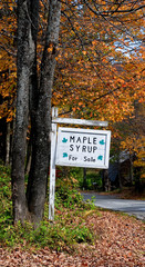 Maple Syrup for Sale Sign