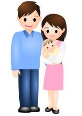 赤ちゃんとパパとママ