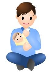 赤ちゃんとパパ ミルク