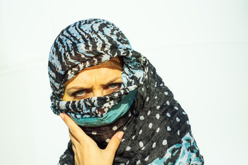 Muslim girl wearing higab