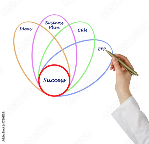 Diagram of business success
