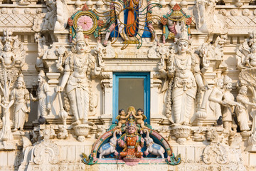 Details of Hindus god in a temple, Pushkar, Rajasthan, India.