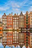 Fototapety Traditional dutch buildings, Amsterdam