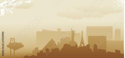 las vegas skyline - 47209101