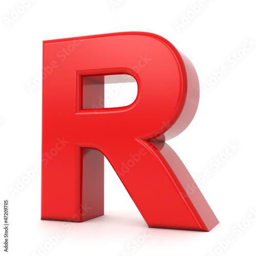 """Letter R Images 3d Images """"3d shiny red let..."""