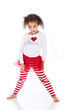 Cute young kid in Christmas outfit