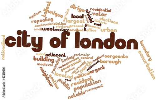 Word cloud for City of London
