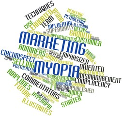 Word cloud for Marketing myopia