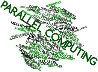 Word cloud for Parallel computing