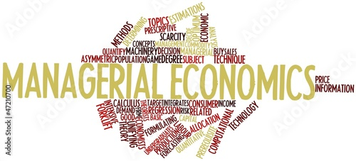 Word cloud for Managerial economics