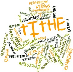 Word cloud for Tithe