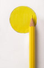 Matita colorata gialla