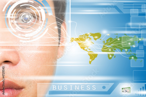 Virtual Business Technology 2030 Concept