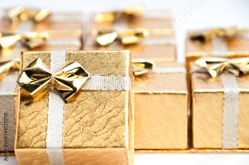 Small Gold Christmas Presents