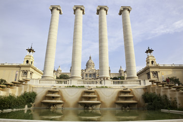 National Palace of Barcelona, with the Four Columns sculpture