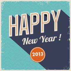 Vintage retro happy new year 2013