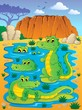 Image with crocodile theme 4