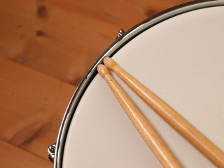 Detail of a snare drum