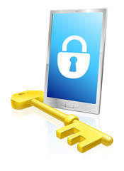 Mobile phone lock and key