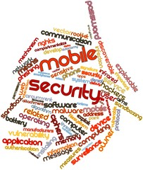 Word cloud for Mobile security