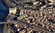 Tarascon , vue aérienne