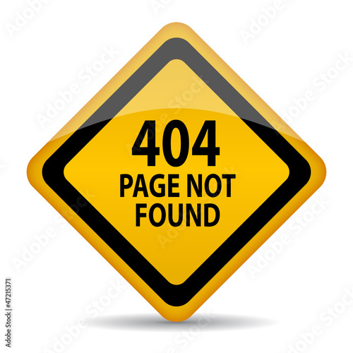 Page not found vector sign