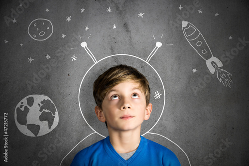 Leinwanddruck Bild Childhood Dream