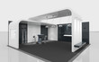 black and white exhibition stand - 47216951