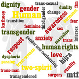 transgender themed word graphic