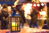Fototapety Laterne Weihnachtsmarkt Licht