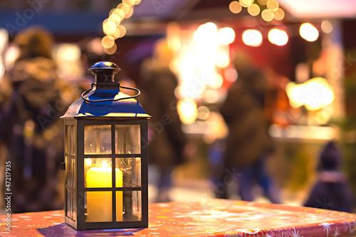 Laterne Weihnachtsmarkt Licht