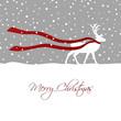 reindeer walking through snow