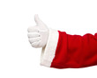 Santa Claus showing thumbs up isolated on white background