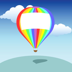 Colorful baloon with a place for text