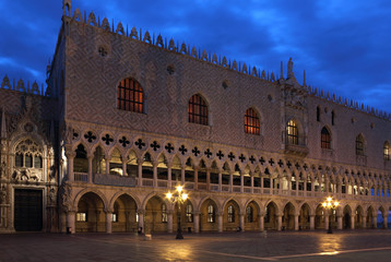 Doges Palace, Venice in the first morning light.