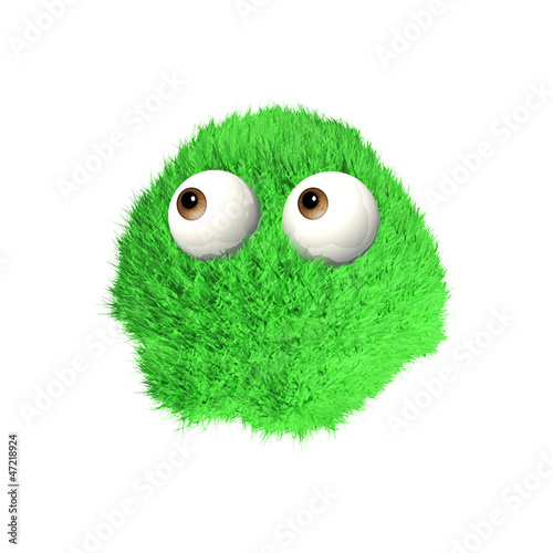 Green Puff Monster