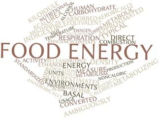 Word cloud for Food energy