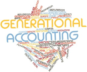 Word cloud for Generational accounting