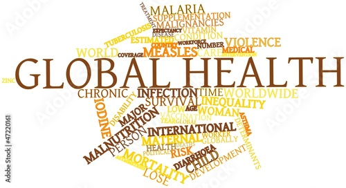 Word cloud for Global health